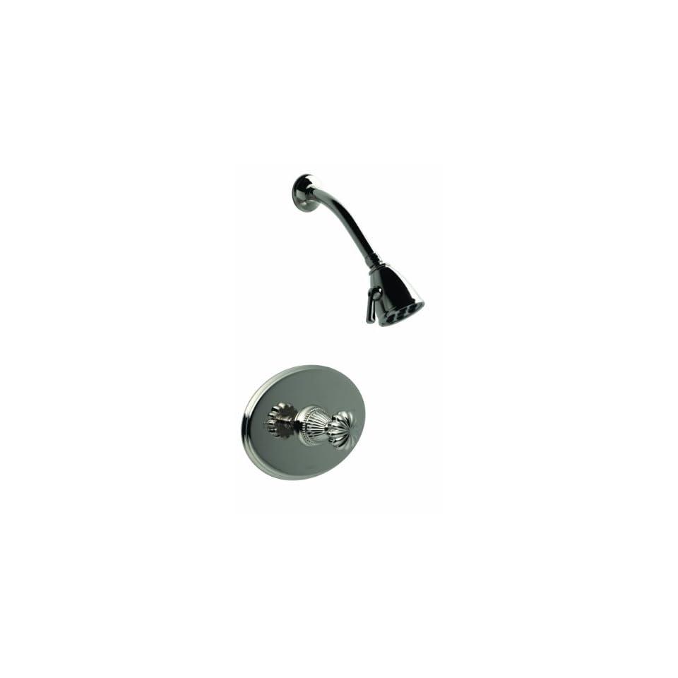 Santec 1132TT15 TM Satin Chrome Monarch Single Handle Tub and Shower Valve Trim Only with Fluted Mushroom Handles 1132TT TM