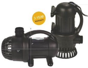 Aquasurge 4000 GPH Pond Pump-G2-with Green Vista Protective Pump Bag ($30.00 Value)