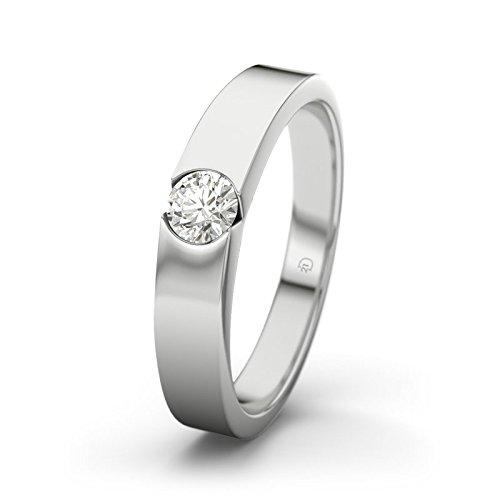 21DIAMONDS Women's Ring Jessica VVS10.15CT Brilliant Cut Diamond Engagement Ring-Silver Engagement Ring