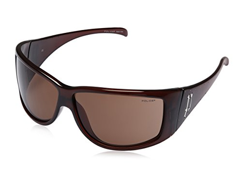 Police Police Rectangular Sunglasses (Brown) (S1536S|XZ90|Free Size)