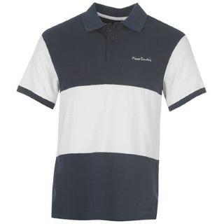 pierre cardin polo shirt mens navy white large. Black Bedroom Furniture Sets. Home Design Ideas