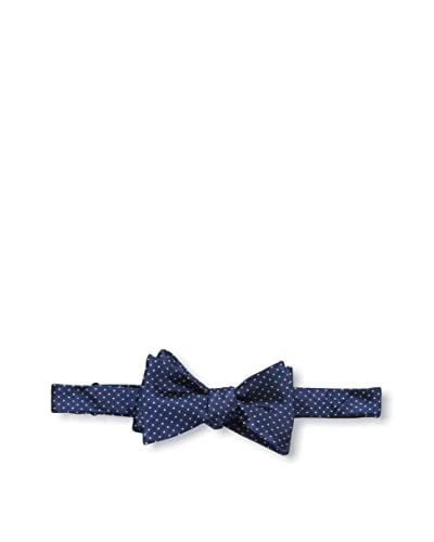 Bruno Piattelli Men's Classic Dot Bow Tie, Navy
