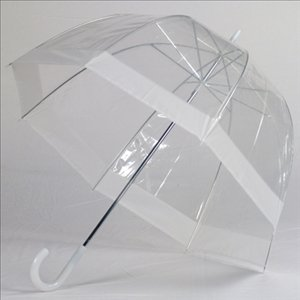Clear Bubble Umbrellas White Trim