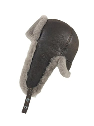 ce18ff2fbdb Zavelio Men s Shearling Sheepskin 6 Panel Ushanka Hat X-Large Camel