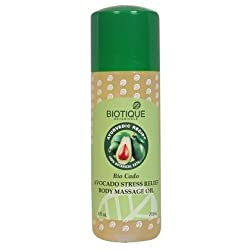 Biotique Body Nourisher Avocado Invigorating Body Massage Oil, 210ml (Pack of 2)