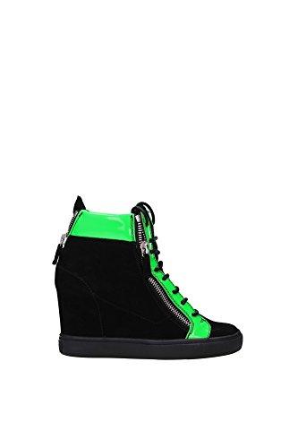 Sneakers Giuseppe Zanotti Donna Camoscio Nero e Verde Fluo RDS312CAMOSCIO Nero 38.5EU