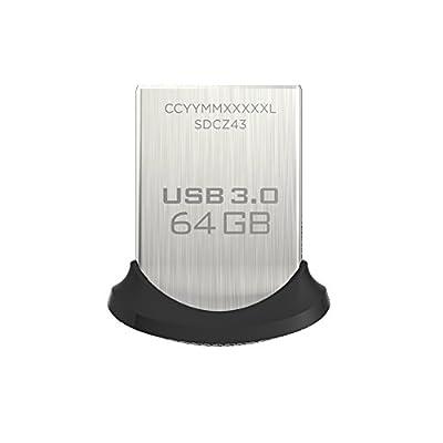 SanDisk Ultra Fit 64GB USB 3.0 Flash Drive (SDCZ43-064G-GAM46)