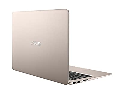 ASUS Zenbook UX305UA 13.3-Inch Laptop (6th Generation Intel Core i5, 8GB RAM, 256 GB SSD, Titanium Gold) with Windows 10 and AmazonBasics Wireless Mouse Set