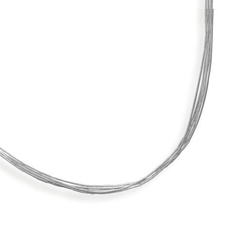 5-Strand Liquid Silver Necklace Sterling Silver - Made in the USA, 20-inch