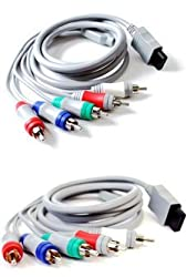 eForCity HDTV / EDTV High Definition 480p Component AV Cable Compatible with Nintendo Wii / wii U