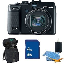 Canon Powershot G1 X 14.1 MP CMOS Digital Camera with 4x Wide-Angle Optical Image Stabilized Zoom Lens Full 1080p HD Video and 3.0-inch Vari-Angle LCD Deluxe Bundle With 4 GB Secure Digital High Capacity (SDHC) Memory Card, Digpro Compact Camera Deluxe Ca