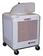Schaefer WayCool 1 HP Portable Evaporative Oscillating Manual Fill Cooler w/ Auto Shut-Off