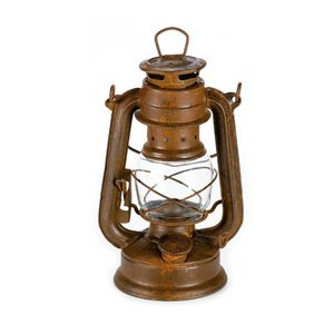 Craft Outlet Tin Oil Lamp, 8-Inch, Rust