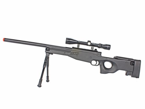 BBTac® BT59 Airsoft Sniper Rifle Bolt Action Type 96 Airsoft Gun, with 3-9x40 Rifle Scope & Aluminum Bipod, and BBTac® Warranty