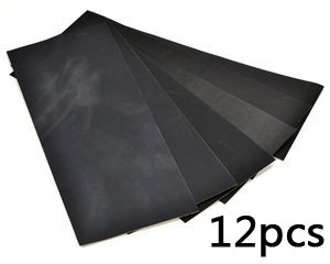 Bluecell Pack of 12 Sandpaper abrasive dry/wet paper Sheets 400/600/800/1000/1200/1500 Grit 9″ x 3.6″ hobby tool