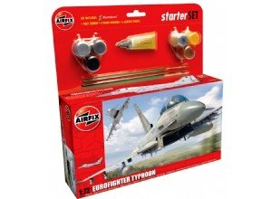 Airfix A50098 Eurofighter Typhoon 1:72 Scale Military Aircraft Category 3 Gift Set (Including Paint Glue And Brushes)