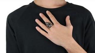 【ホワイトメタルアクセサリー リング・指輪】 スカル ドクロ ハード メンズリング cenote-r5010
