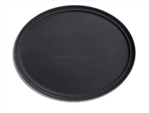 New Star 25576 NSF Plastic Oval Rubber Lined Non-Slip Tray, 24 by 29-Inch, Black