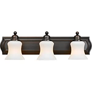 Quoizel OK8603HO Oakland 7-1/2-Inch x 24-Inch 3 Light Wall Bath Fixture Harbor Bronze