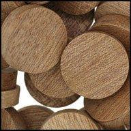 WIDGETCO 3//8 Mahogany Wood Plugs Face Grain