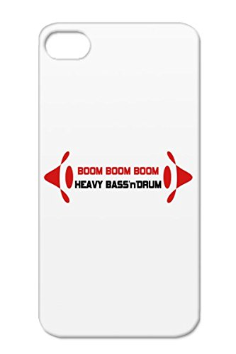 Red Subwoofer Beat Dance Electronica Jumpstyle Boom Gabber Techno Volume Dub Step Music Gabba Bass Sub Trance Edm Electronic Dance Dubstep Music Speakers Pump Frequencies For Iphone 4S Tpu Heavy Bassndrum Durable Case