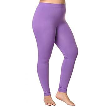 Angelina Full-Length Seamless Leggings, Purple