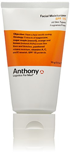 Anthony Logistics for Men Facial Moisturizer SPF 15, 2.5 oz.