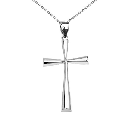 10-ct-white-gold-dainty-cross-pendant-necklace-comes-with-an-18-chain