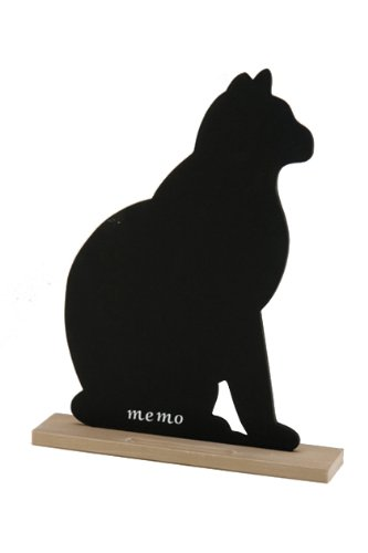 October Hill Fun and Fancy Chalkboards, Black Cat, 12.375-Inch Tall