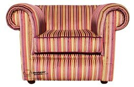 Chesterfield bassa della poltrona Club riga multi Stripe