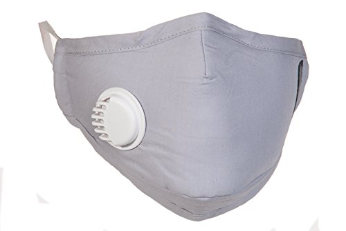 PM25-Grey-Air-Pollution-Mask-with-Exhale-Valves-4-N99-Filters-Set-Available-in-Black-Navy-Beige-Grey-and-Pink