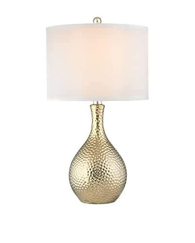 Artistic Soleil Table Lamp, Gold Plate