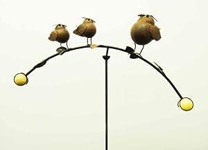 Metal Garden Wind Vane Spinner - Bird Family from Brilliant Wall Art