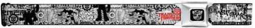 Transformers Seatbelt Belt - Text w/ Abstract Black & White Graffiti City Art