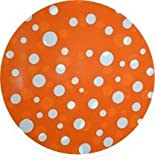 Home Decor - Designerliner Orange Polka Dot Gorgeous Eco Green Biodegradable Plastic Trash Bags - Economical Wholesale 100 Bag Bulk Pack - Decorative Pattern - Great for the Nursery, Child