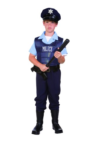 Child's Police Officer Cop Costume Size Large (12-14)