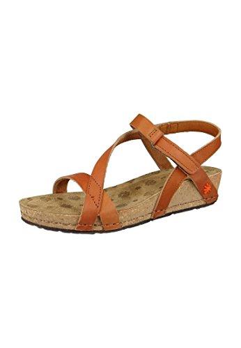 Art sandalo Pompei Cuero Brown Strappy Sandal - 0736, ART Schuhe Damen:42