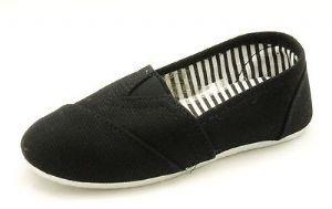 Little Boys / Babies Black flat canvas shoes / summer espadrilles NEW
