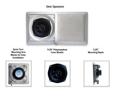Imagen de Acústica de audio S191 100 vatios In-Wall/Ceiling Inicio altavoz