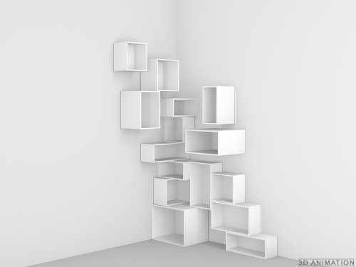 Design Regal - Stylisches Regalsystem über Eck