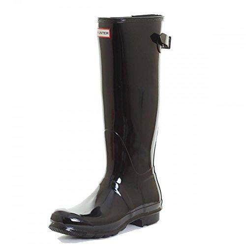 Hunter Original Back Adjustable Gloss Ladies Wellington Boots UK7 EU40/41 US9 Black (Hunter Rain Boots Ladies compare prices)