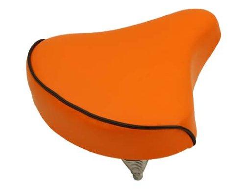 Beach Cruisers Saddle 209 Orange. Bike Seat, Bicycle Seat, Bike Part, Bicycle Part, Beach Cruiser Seat, Chopper Fixie, Road, Mountain Bike Seat front-446509