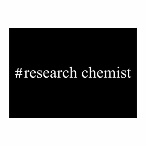 Teeburon #Research Chemist Hashtag Sticker Pacchetto di 4