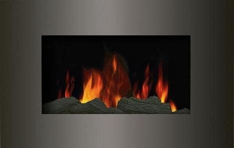 WALL MOUNTED ELECTRIC FIRES FIRE FIREPLACE CURVED GLASS LOG EFFECT FLAME NEW!