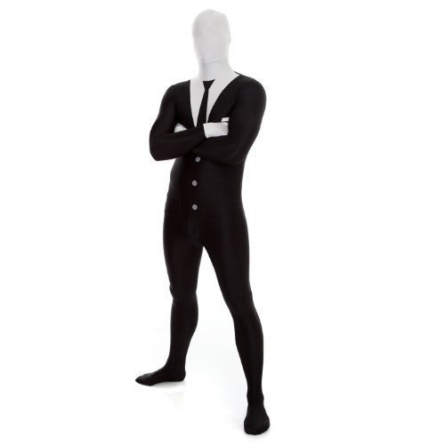 Slenderman Premium Morphsuit. Size Medium- For Peope Smaller Than 5ft 4in