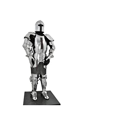Armor Venue Milanese Medieval Suit of Armor - One Size Fit All - Silver