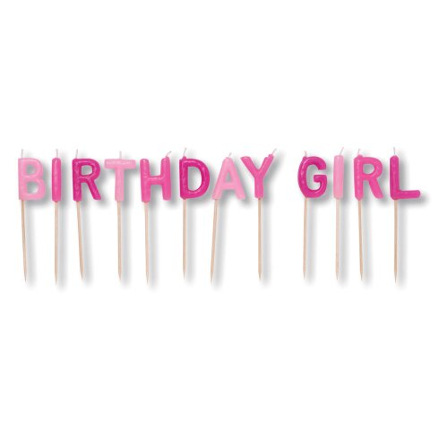 Creative Converting Birthday Girl Pick Letters Candle Set - 1