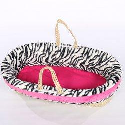 Minky Zebra Moses Basket front-1052520