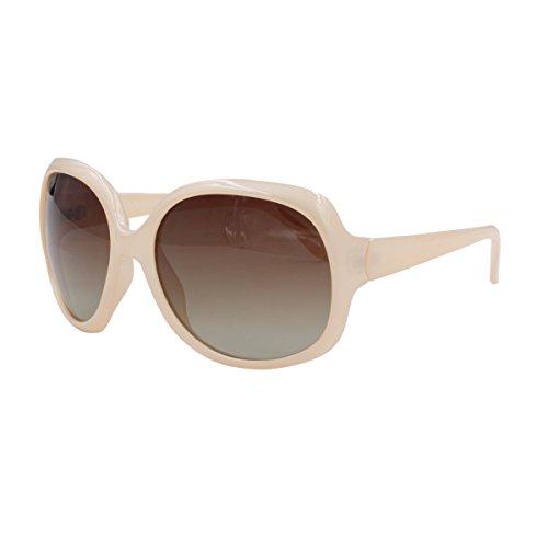 Vivienfang Women's Elegant Oversized Polarized Sunglasses UV400 P1981 Nectar Nude