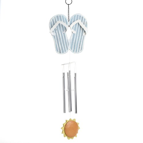 Cute and Fun Blue and White Flip Flop Wind Chimes-